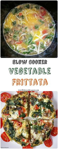 This easy frittata slow cooker recipe uses vegetables, eggs, cheese and a few seasonings. It's simple yet flavorful and best, it's ready in just an hour or so. (Crockpot. Breakfast.)