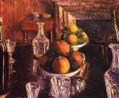 Gustave Caillebotte - Verres, Carafes et Compotiers de Fruits