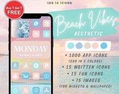 Ios, App Covers, App Icon, Clipart, Icon Pack, Beige Aesthetic, Boho Aesthetic, Iphone App, Iphone Icon
