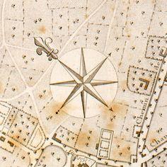 Rose des vents - détail d'un plan de Lille, 1784 (c) Musée des Plans-reliefs, cote D35