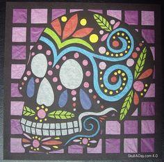 Dia de la Abby: #1 - Cut Paper Sugar Skull
