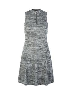 The perfect autumn dress - our Teens Grey Zip Neck Space Dye Dress can be dressed up or down. #newlook #fashion