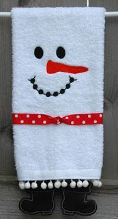 Towel Leg Designs :: Snowman Boots Towel - Embroidery Garden In the Hoop Machine Embroidery Designs Christmas Towels, Christmas Sewing, Christmas Snowman, Christmas Projects, Handmade Christmas, Holiday Crafts, Holiday Fun, Xmas, Christmas Print