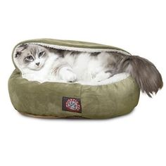 """Majestic Pet Products 18"""" Sage Suede Canopy Bed"""