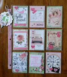 : More pocket letter fun! Atc Cards, Paper Cards, Journal Cards, Junk Journal, Pocket Pal, Pocket Cards, Pocket Scrapbooking, Scrapbook Paper, Project Life Cards