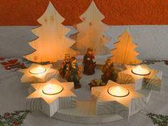 Fertiger Adventskranz aus Holz