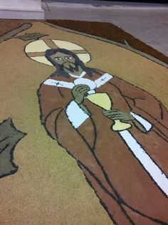 I would not want to step on Jesus' face.