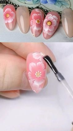 Nail Polish Art, Gel Nail Art, Nail Art Diy, Acrylic Nails, Diy Nails, Coffin Nails, Nail Art Designs Videos, Nail Design Video, Nail Art Videos