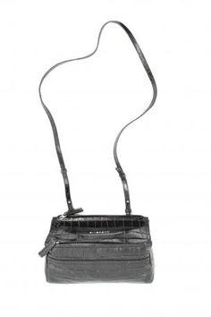 Givenchy Pandora bag mini black. Calf leather shoulder bag in black color,  crocodile print 13046f9d1a