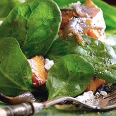 Spinach and Sweet Potato Feta Salad