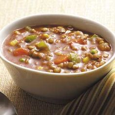 Hearty Lentil Soup - Taste of Home Light and Tasty