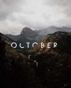 October graphic design typography