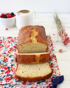 Healthier Vanilla Pound Cake... This was insanely good and satisfied my craving for the sweet and buttery flavor of a pound cake but didn't have the texture or density of a real pound cake. It only has 1/2 stick of butter and 1/2 cup sugar. I used vanilla greek yogurt instead of plain and it was definitely sweet enough.
