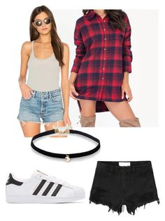 """Vidcon 2k17!"" by harmony090899 on Polyvore featuring adidas Originals, Chaser, Simons and Abercrombie & Fitch"
