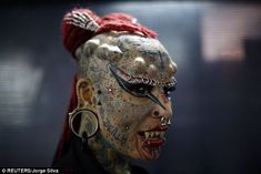 Mary Jose Cristerna, is a Mexican who is better known on the international tattoo circuit as Vampire Woman