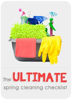 Getting in the spring cleaning mood?? Check out this ULTIMATE spring cleaning checklist #spring #cleaning