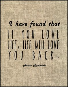 Love life and life will love you back by JenniferDareDesigns, $8.00
