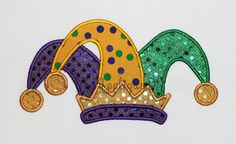 Mardi Gras Jester Hat Embroidery Design Machine Applique - Welcome to our website, We hope you are satisfied with the content we offer. Mardi Gras Centerpieces, Mardi Gras Decorations, Candle Decorations, Mardi Gras Outfits, Mardi Gras Costumes, Hat Embroidery, Machine Embroidery Applique, Jester Hat, Halloween Disfraces