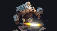 A low-poly character model of a noble blacksmith in a fantasy setting. All the textures are hand-painted in 3d-coat and Photoshop.