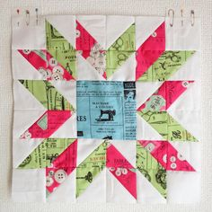 Made using HSTs, this Starry Time Star Block Tutorial goes through the key steps for creating this lovely star quilt block. Modern Quilt Blocks, Star Quilt Blocks, Star Quilts, Mini Quilts, Modern Quilting, Scrappy Quilts, Quilting Tutorials, Quilting Projects, Quilting Designs