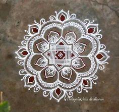 Free Hand Rangoli Design, Small Rangoli Design, Beautiful Rangoli Designs, Kolam Designs, Mehandi Designs, Mandala Design, Indian Rangoli, Kolam Rangoli, Flower Rangoli