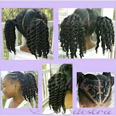 Natural hairstyle for kids