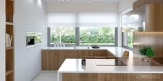 Find home projects from professionals for ideas & inspiration. Projekt domu HomeKONCEPT 36 by HomeKONCEPT Dining Room Design, Kitchen Design, Villa Design, House Design, Beautiful Kitchens, Minimalist Design, Kitchen Interior, Home Projects, Home Kitchens