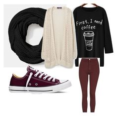 """""""Untitled #30"""" by journeycarothers on Polyvore featuring Coach, Converse, MANGO and Topshop"""