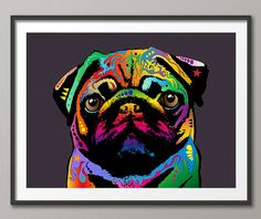 Hey, I found this really awesome Etsy listing at https://www.etsy.com/listing/201027817/pug-dog-art-print-1278