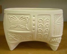 sandi pierantozzi ceramics artist click the image or link for more info. Ceramic Boxes, Ceramic Clay, Pottery Bowls, Ceramic Pottery, Slab Pottery, Vintage Pottery, Handmade Pottery, Vases, Pottery Designs