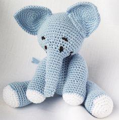 Crochet Elephant Amigurumi, Baby Blue Elephant, Amigurumi Crochet Doll, Amigurumi Toy, Baby Gift. $23.00, via Etsy.