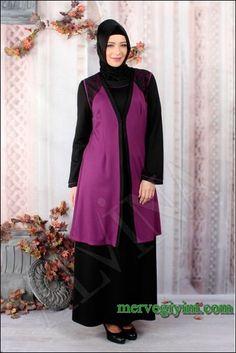2014 Büyük Beden Tesettür Elbise Modelleri