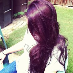 Dyed purple plum hair