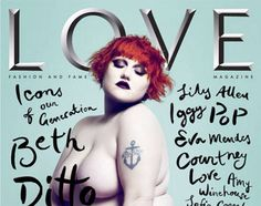 Beth Ditto photographed by Mert and Marcus for the cover of LOVE Magazine Beth Ditto, Sharon Stone, Vanity Fair, Pixie Geldof, Love Magazine, Magazine Covers, Magazine Design, Magazine Art, Anjelica Huston