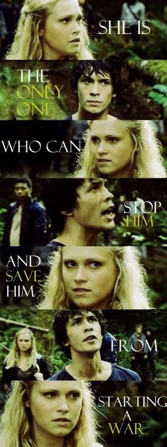 Bellamy Blake (Bob Morley) and Clarke Griffin (Eliza Taylor) II The 100 ships: Bellarke.