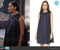 Rachel Comey Short Chronicle Dress worn by Tracee Ellis Ross on Blackish