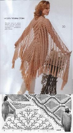 really easy crochet shawl - would love to try this.  great it has a diagram chal crochet pattern