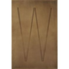 Brass Letter W Wall Art  | Crate and Barrel