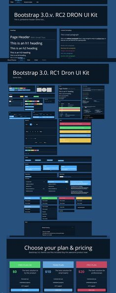 Bootstrap 3.0. theme DRON dark UI. Bootstrap Themes. $4.00