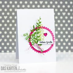"""Sentiment in beautiful fonts are perfect for simple cards - this one says """"kindest regards"""". The card is made with shapes cut with my Silhouette. #stamps #clearstamps #stamping #coloring #crafting #papercrafts #papercrafting #card #cardmaking #handmadecards #karte #kartendesign #kartengestaltung #kartenbasteln #stempel #stempeln #createasmile #createasmilestamps #basteln"""