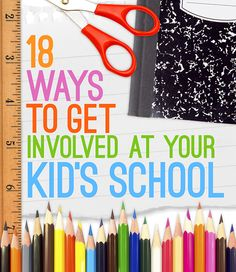 Do you want to get involved in your child's classroom, but aren't sure how? Check out these ideas!