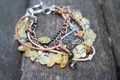 citrine jumble bracelet £12.00