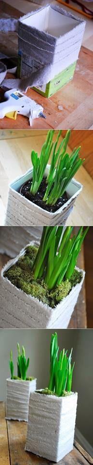 Portamaceta reciclado, una opción ecológica que también puede verse bien como elemento decorativo.
