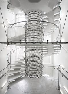 """Arch. Eva Jiřičná, London Hrtp://Ejal.com """"SUMMERSET HOUSE""""  http://www.istructe.org/structuralawards/2014/the-shortlist/arts-or-entertainment/somerset-house-the-miles-stair  --- STRUCTURAL DESIGNER Techniker  CLIENT NAME Somerset House Trust  LOCATION London, United Kingdom  ARCHITECT Eva Jiricna Architects  M&E ENGINEERS Inspire Consulting UK Limited"""