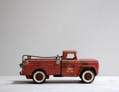 Vintage Structo Fire Dept Truck by LittleDogVintage on Etsy, $62.00