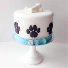 Puppy Birthday Cakes, Puppy Birthday Parties, Puppy Party, Fondant Birthday Cakes, Dog Bday Cake, Vet Cake, Fondant Dog, Cake Fondant, Puppy Cake