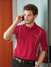 Promotional Products Ideas That Work: PARALLEL MEN'S SNAG PROTECTION POLO WITH PIPING. Get yours at www.luscangroup.com
