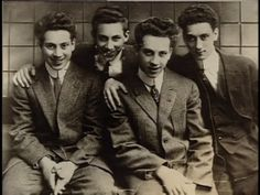 Young Marx Brothers: Arthur (Harpo), Milton (Gummo), Leonard (Chico) and Julius (Groucho)