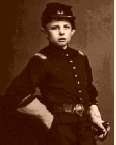Tad seemed to enjoy the idea of throwing the White House and its staff into a dither. Because of the times, some of Tad's games were war-related. He received a pretend military commission from Secretary of War Edwin Stanton. (The National Archives photo shows Tad in the Union uniform that Stanton allowed him to wear.)