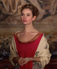 Lily James as Natasha Rostova in War and Peace (TV Mini-Series, 2016). [x]